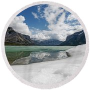 Minewanka View Round Beach Towel