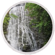 Mingo Falls In The Spring Round Beach Towel