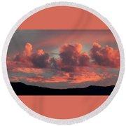 Mingus Sunset 052814bb Round Beach Towel