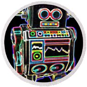 Mini D Robot Round Beach Towel