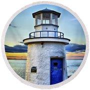 Miniature Lighthouse Round Beach Towel