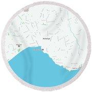 Minimalist Modern Map Of Antalya, Turkey 1 Round Beach Towel