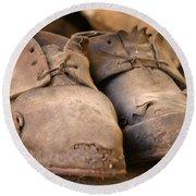 Mining Shoes  Langban Sweden Round Beach Towel