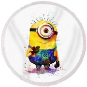 Minion 4 Round Beach Towel