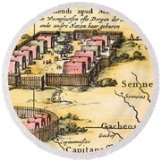 Minisink Village, 1650s Round Beach Towel