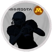 Minnesota Football Round Beach Towel