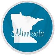 Minnesota In White Round Beach Towel