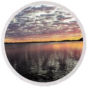 Minnesota Sunrise Round Beach Towel