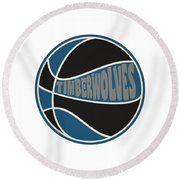 Minnesota Timberwolves Retro Shirt Round Beach Towel