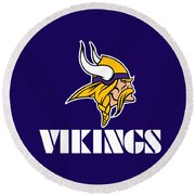 Minnesota Vikings Round Beach Towel