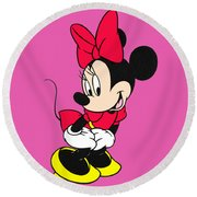 Minnie Round Beach Towel