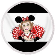 Minnie Mouse Round Beach Towel