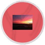Miracle Sunset Round Beach Towel