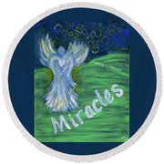 Miracles Round Beach Towel