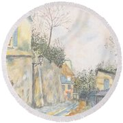 Mirage Of Utrillo Round Beach Towel