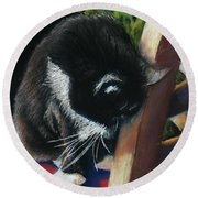 Kitty Chair Round Beach Towel