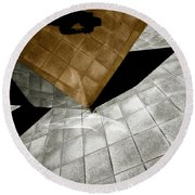 Mirror Act Round Beach Towel