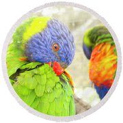 Mirror Image Round Beach Towel