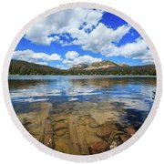 Mirror Lake Moments Round Beach Towel