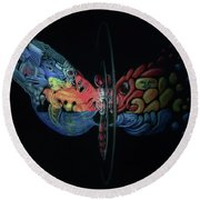 Mirror, Mirror Round Beach Towel
