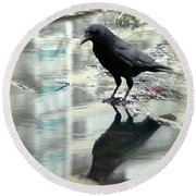 Mirror On The Wall Round Beach Towel