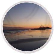 Mirror Reflection Beach Surf Round Beach Towel