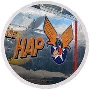 Miss Hap Round Beach Towel