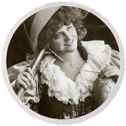 Miss Marie Studholme As Lady Madcap 1905 Round Beach Towel