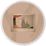 Miss Spinelly At Home Round Beach Towel