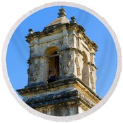 Mission Bell Tower Round Beach Towel