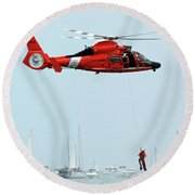 Mission Complete Round Beach Towel