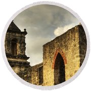 Mission San Jose I Round Beach Towel