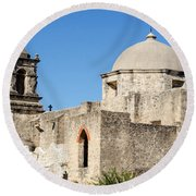 Mission San Jose Towers Round Beach Towel