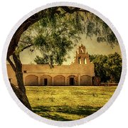 Mission San Juan Church Round Beach Towel