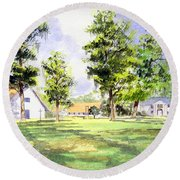 Mission San Luis Round Beach Towel