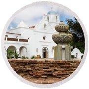 Mission San Luis Rey Round Beach Towel