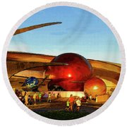 Mission Space Round Beach Towel