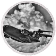 Mission-strategic Airlift Round Beach Towel