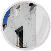 Mission Style Architecture Round Beach Towel
