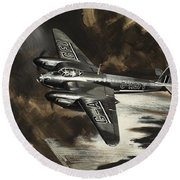 Mission To Danger Round Beach Towel