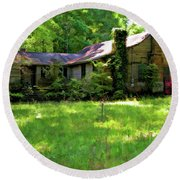 Mississippi Country Place Round Beach Towel