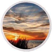 Mississippi Gulf Coast Sunset Round Beach Towel