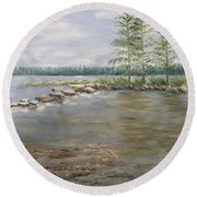 Mississippi Headwaters 2  Round Beach Towel