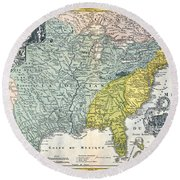 Mississippi Region, 1687 Round Beach Towel