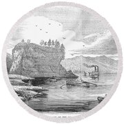 Mississippi River, 1854 Round Beach Towel
