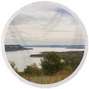 Mississippi River Lake Pepin 10 Round Beach Towel