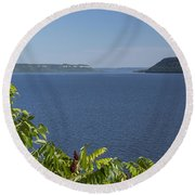 Mississippi River Lake Pepin 2 Round Beach Towel