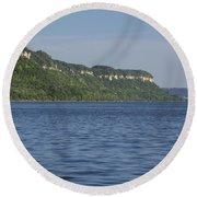 Mississippi River Lake Pepin 4 Round Beach Towel