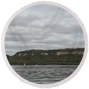 Mississippi River Lake Pepin 6 Round Beach Towel