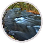 Mississippi River Minneapolis Round Beach Towel